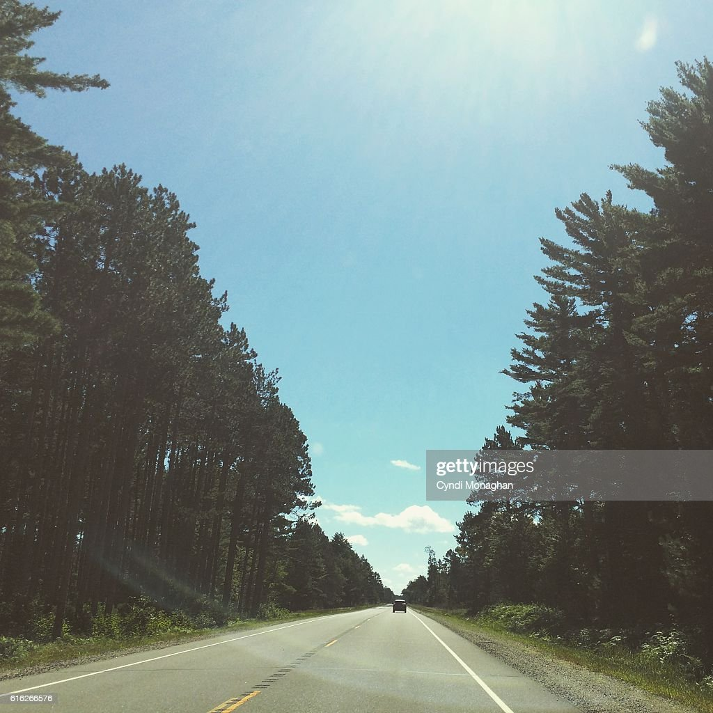 Driving in the Northwoods : Stock Photo