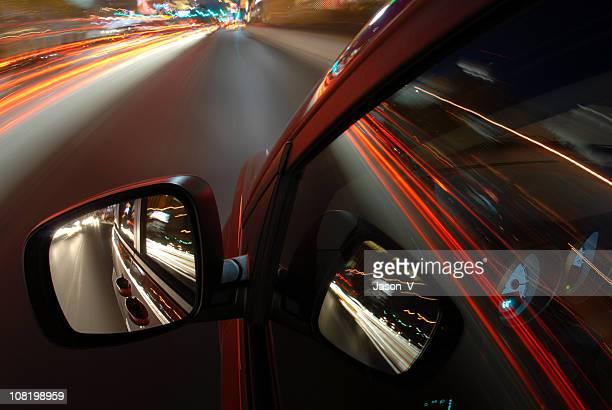 Driving in Vegas at Night