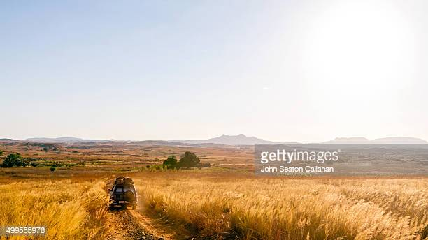 Driving in western Madagascar
