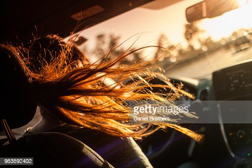 Driving in LA with Hair Blowing in the Wind
