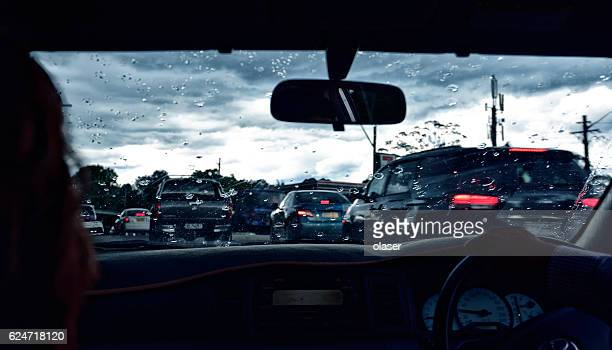 driving into heavy storm - sydney rain stock pictures, royalty-free photos & images