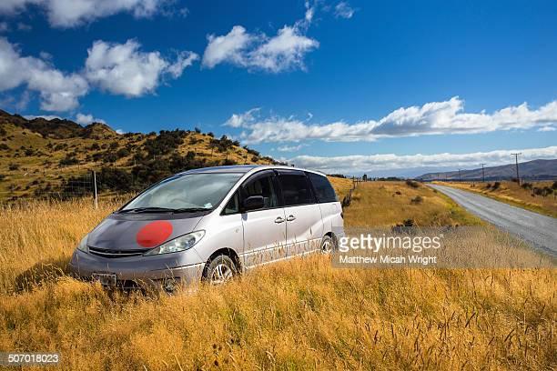 Driving into the Mavora Southland region