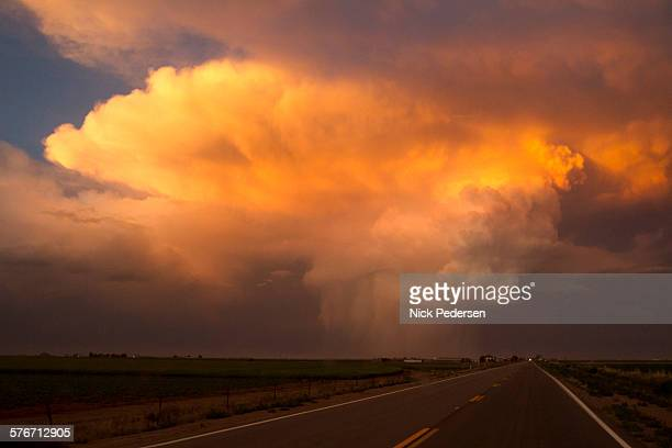 driving into the storm - calm before the storm stock pictures, royalty-free photos & images