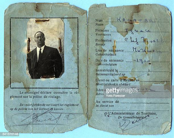 Driving licence of Ignace Kamatari father of Princess Esther
