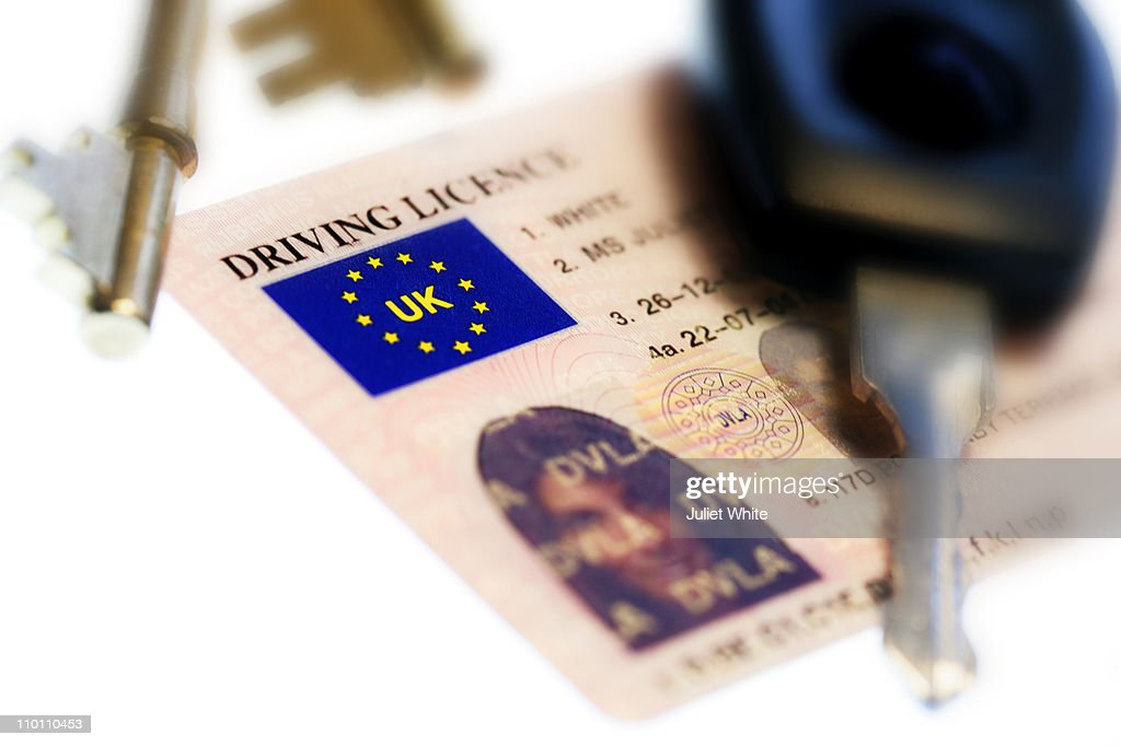 UK Driving Licence with Keys : Stock Photo