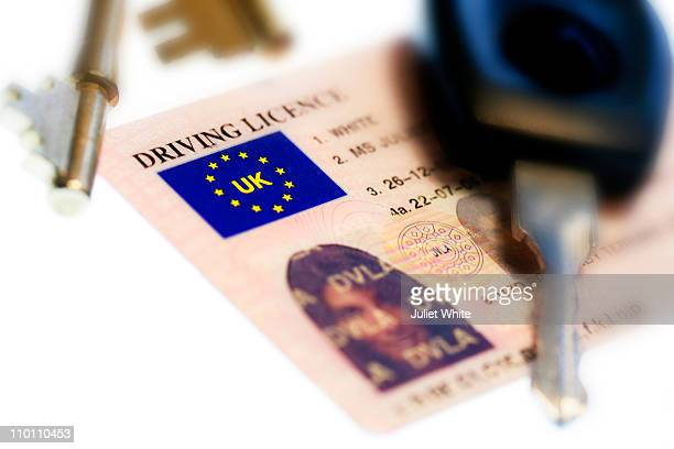 UK Driving Licence with Keys