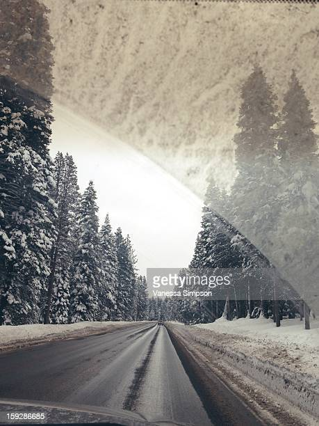 CONTENT] Driving on a winter road in Truckee CA