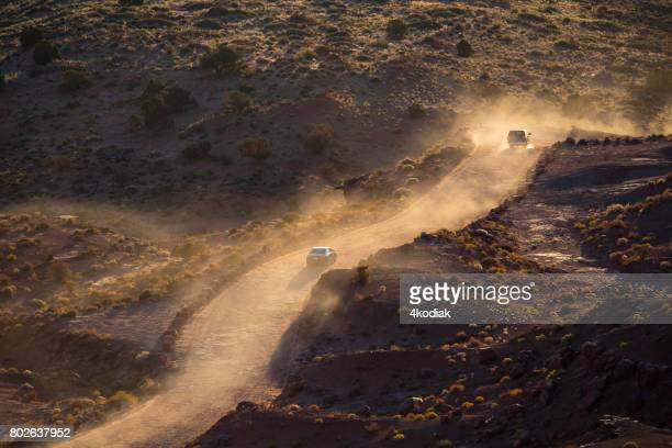 driving on dirt road - dirt track stock pictures, royalty-free photos & images