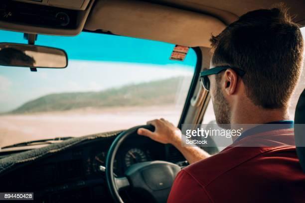 Driving on Fraser Island