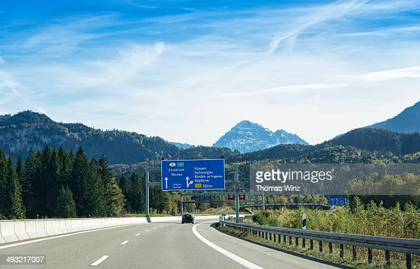 Driving on Freeway A7 towards Austria