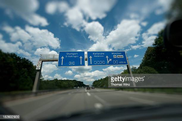 Driving on German Autobahn