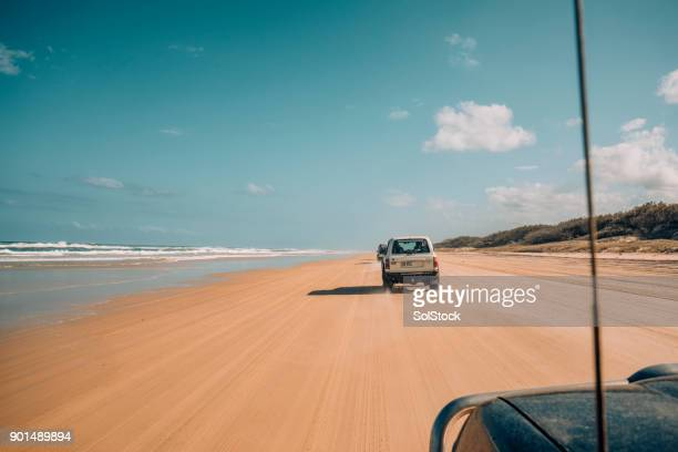 Driving on the 75 Mile Beach