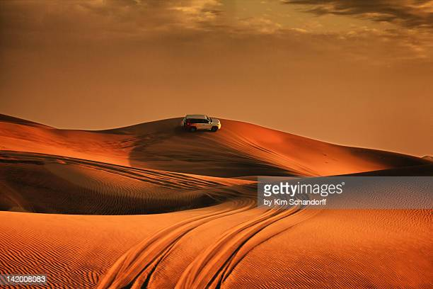 Driving over sand dunes