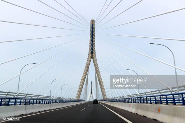 Driving over the La Pepa Bridge (Constitution of 1812 Bridge) towards Cádiz