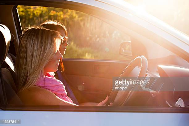 driving - compact car stock photos and pictures