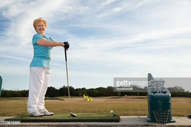 driving range portrait. - driving range stock pictures, royalty-free photos & images