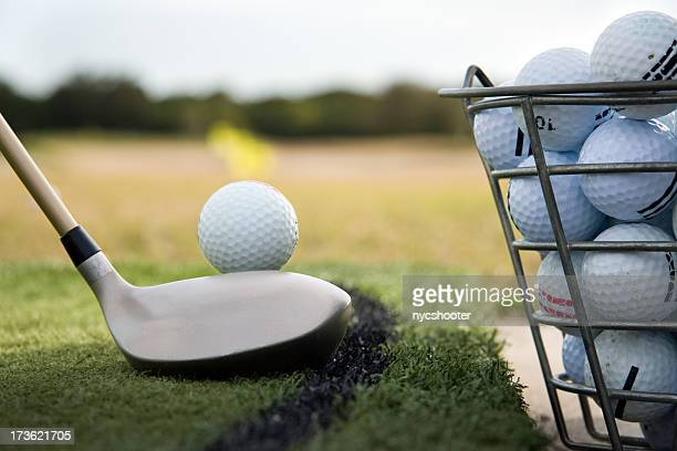 driving range practice - bucket stock pictures, royalty-free photos & images