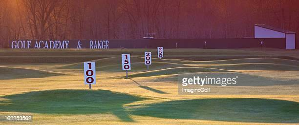 driving range yardage signs - driving range stock pictures, royalty-free photos & images