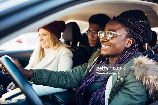 Driving students