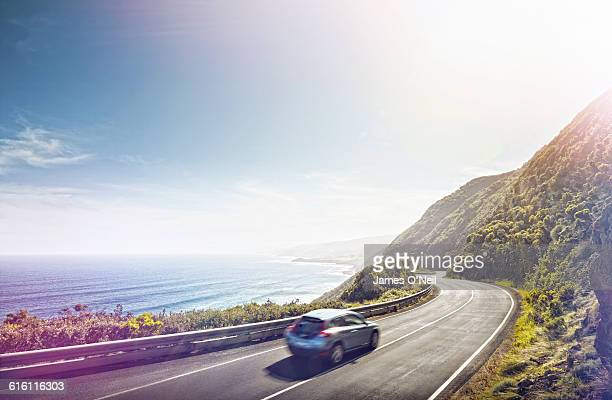 driving the great ocean road - road stock pictures, royalty-free photos & images