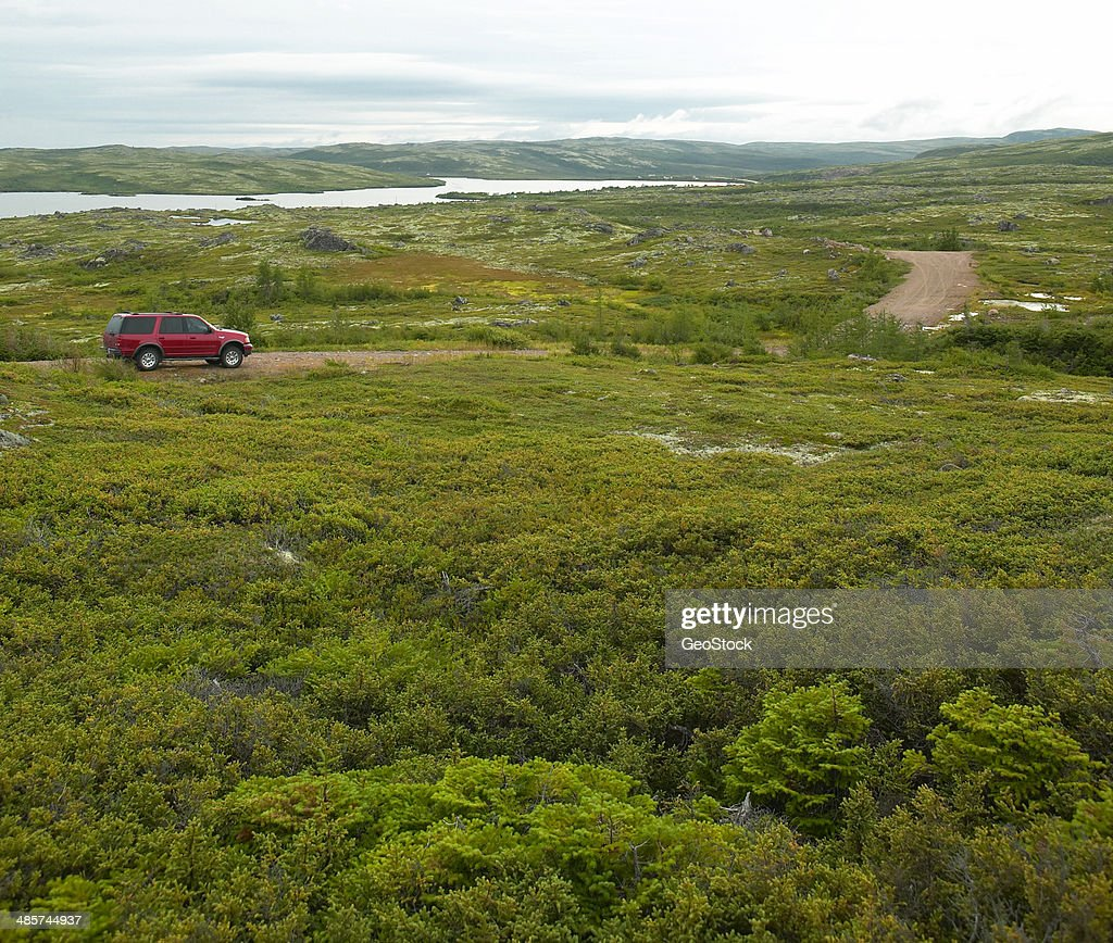 Driving the Trans Labrador Highway : Stock Photo