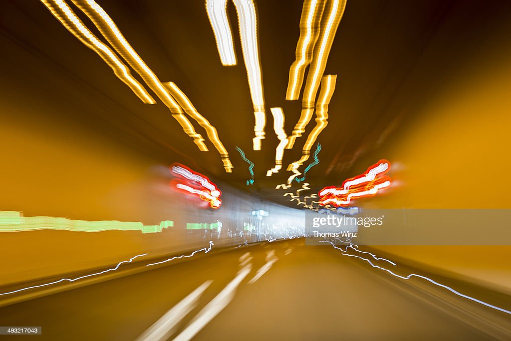 Driving through a tunnel : Stock Photo
