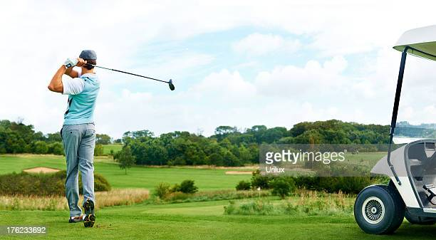 driving through - golf - golf swing stock pictures, royalty-free photos & images