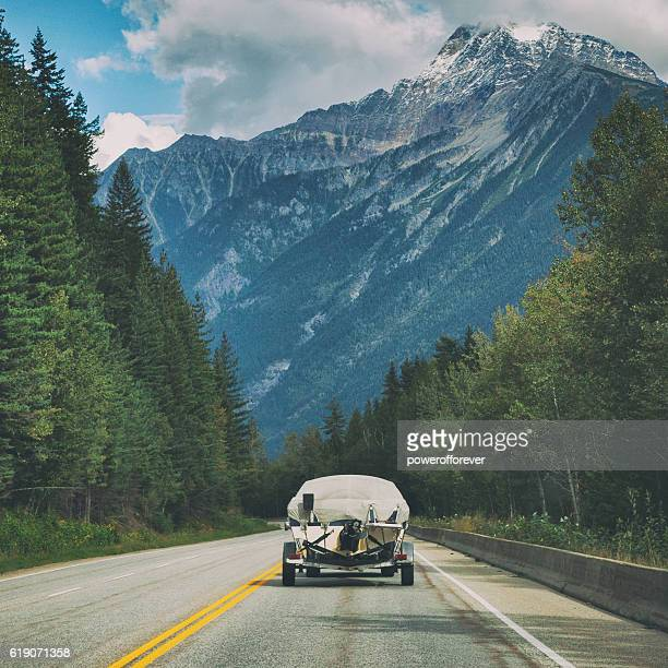 Driving through Yoho National Park in British Columbia, Canada