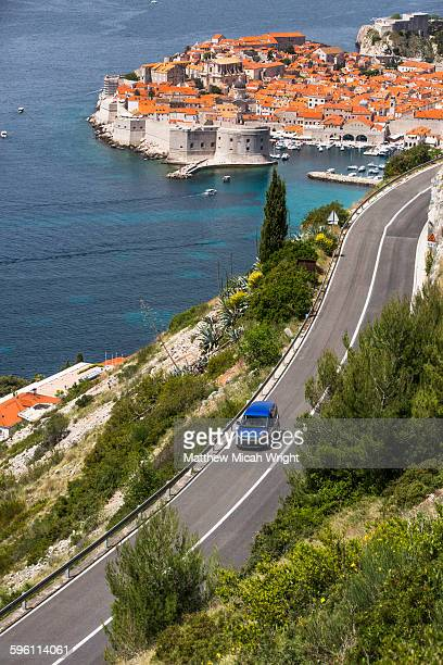 Driving to find views overlooking Dubrovnik.