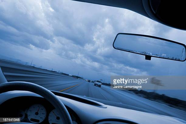 Driving to the storm