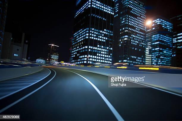 Driving Tokyo at night