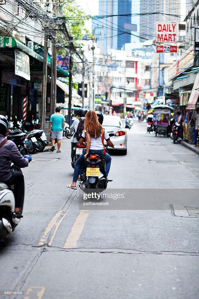 Guida con moto taxi : Foto stock