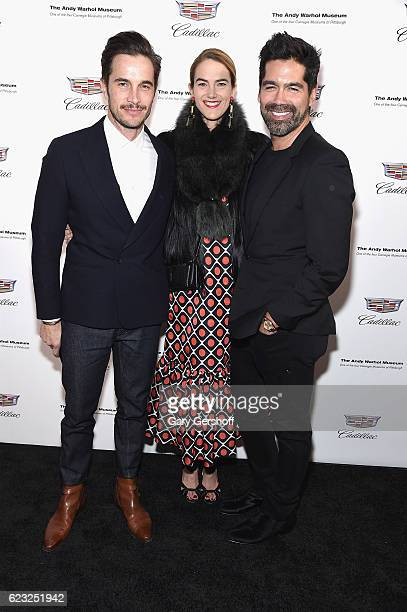 DrJake Deutsch JJ Martin and Brian Atwood attend Letters To Andy Warhol exhibition opening at Cadillac House on November 14 2016 in New York City