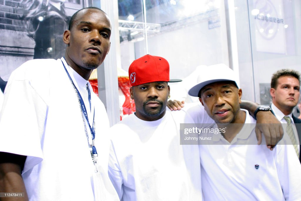 Dro,Dame Dash and Russell Simmons during 2005 Magic Convention - Fall Season - Day 2 - Celebrity Sighting at Las Vages Convention Center in Las Vages, Nevada, United States.