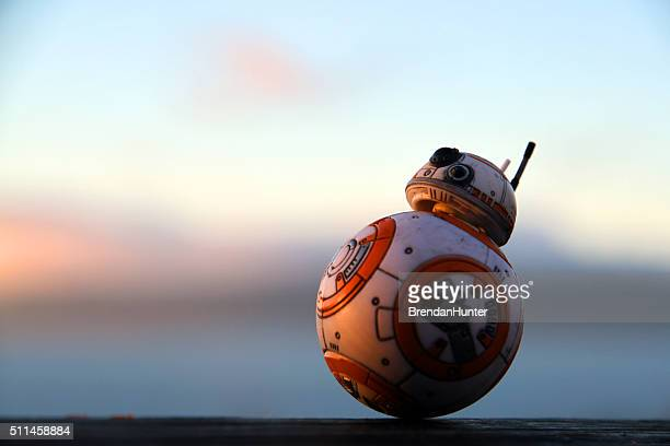 droid at the end of the day - star wars stock pictures, royalty-free photos & images