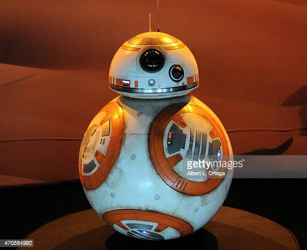 Droid BB8 on display inside the 'Star Wars The Force Awakens' exhibit on Day One of Disney's 2015 Star Wars Celebration held at the Anaheim...