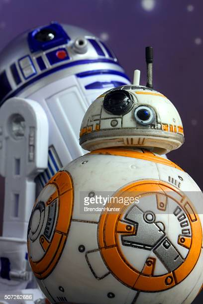 droids of a feather - bb 8 stock pictures, royalty-free photos & images