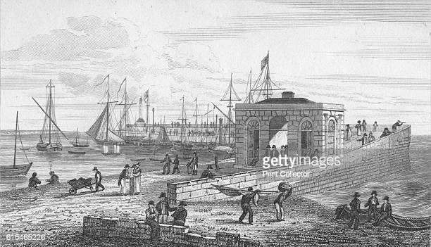 Droit Office Pier' 1820 Margate is a seaside town in the district of Thanet in Kent The town's history is tied closely to the sea and it has a proud...