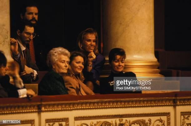 A droite Dominique Tapie dans les tribunes de l'Assemblee Nationale au moment de la levee de l'immunite parlementaire de son epoux Bernard Tapie le 8...
