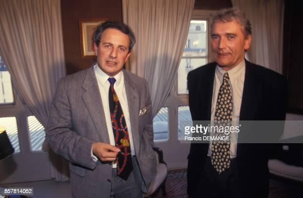 A droite Gerard Michel avocat et Rene Cereda entrepreneur de travaux publics le 31 octobre 1994