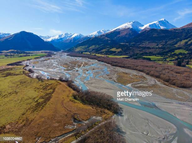 Drone Aerial of New Zealand Landscape