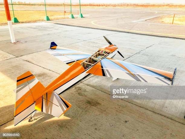 A Drone airplane waiting to lift off
