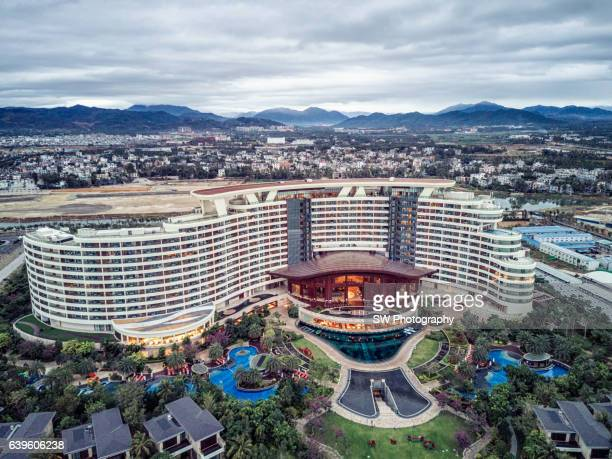 Drone angle view of the Intercontinental Hotel