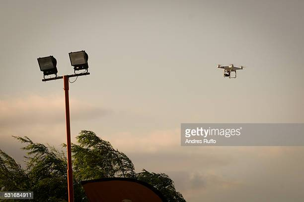 drone enthusiasts - andres ruffo stock photos and pictures