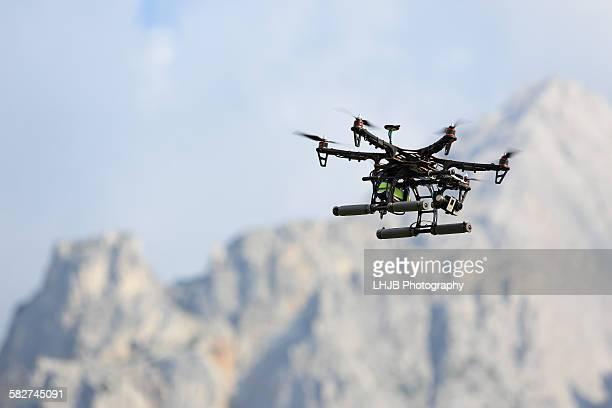 Drone flying around Mountain Area, Tyrol, Austria
