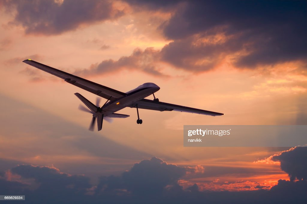 Drone flying on the sky : Stock Photo