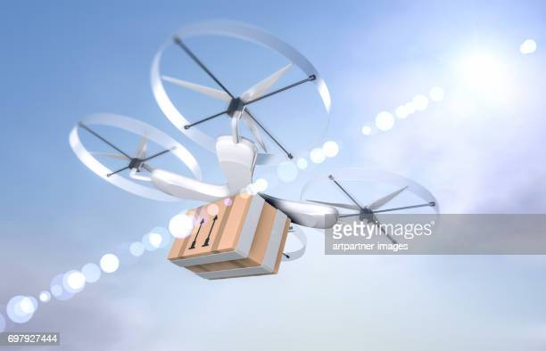 drone for parcel delivery purposes