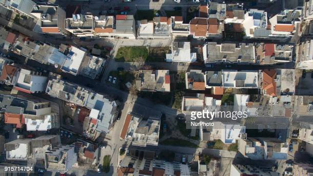 Drone images during a sunny day in Thessaloniki Greece The drone images are taken around the area of Evosmos city in the West side of the City The...