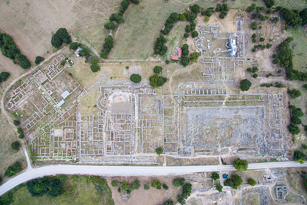 Drone images of new unesco world heritage site in greece photos and drone images of new unesco world heritage site philippi in greece on 20 july 2016 gumiabroncs Choice Image
