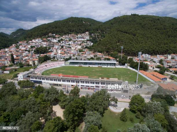 Drone images of Xanthi city in northeastern Greece on 19 October 2017 Xanthi has a population of 70000 people and is built on the foot of Rhodope...